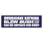 KATRINA BLEW BUSH Bumper Sticker