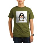 Gay Pride Girl Penguin Organic Men's T-Shirt (dark