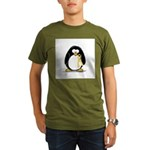 Yellow RIbbon penguin Organic Men's T-Shirt (dark)