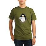 volleyball Penguin Organic Men's T-Shirt (dark)