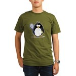 Tennis Penguin Organic Men's T-Shirt (dark)