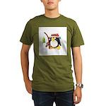 Clay Fishing Penguin Organic Men's T-Shirt (dark)