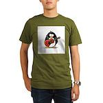 Red Acoustic Guitar Penguin Organic Men's T-Shirt