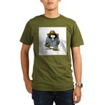 Treasure Hunter Penguin Organic Men's T-Shirt (dar