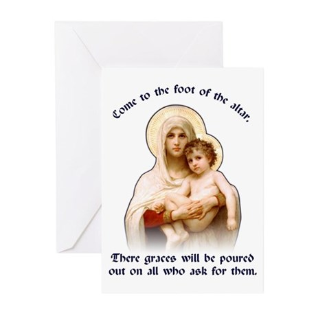 Madonna of the Roses Greeting Cards (Pk of 10)