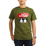 Just Married Penguins Organic Men's T-Shirt (dark)