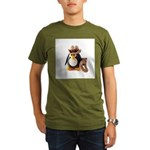 Cowboy Penguin Organic Men's T-Shirt (dark)