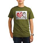 I Love Love Love Penguins Organic Men's T-Shirt (d