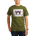 Pink Fairy Penguin Organic Men's T-Shirt (dark)