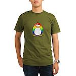 Rainbow Penguin Organic Men's T-Shirt (dark)