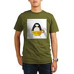 Coffee penguin Organic Men's T-Shirt (dark)