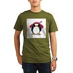 Red Hat penguin Organic Men's T-Shirt (dark)