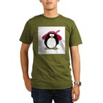 Red Hat penguin Organic Men's T-Shirt (dark)