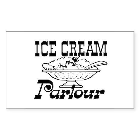 Ice cream parlour Rectangle Sticker
