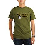 Penguins Rock Organic Men's T-Shirt (dark)