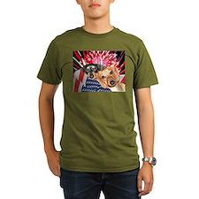 Patriotic Dachshund Dogs T-Shirt
