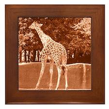 """""""giraffe"""" Framed Tile"""