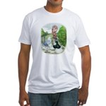 Assorted Trio Pigeons Fitted T-Shirt