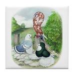Assorted Trio Pigeons Tile Coaster