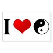 I love Taoism Rectangle Decal