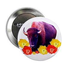 Buffalo Blooms Button