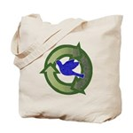 Recycle Symbol Canvas Reusable Tote Bag