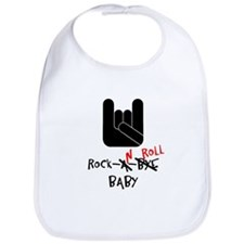 Cute Rock n roll baby Bib