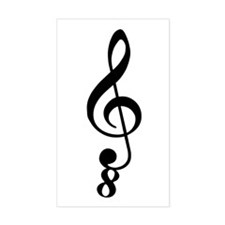 Tenor Clef Decal