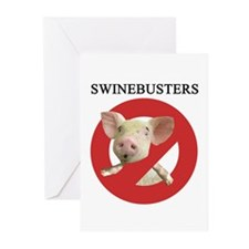 Funny H1n1 Greeting Cards (Pk of 20)