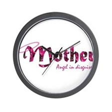 Mother-Angel In Disguise Wall Clock
