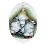 Chinese Owl Pigeons Oval Ornament