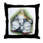 Chinese Owl Pigeons Throw Pillow