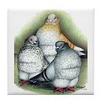 Chinese Owl Pigeons Tile Coaster