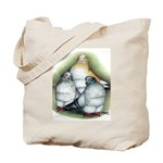 Chinese Owl Pigeons Tote Bag