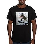 Chihuahua Trucker Men's Fitted T-Shirt (dark)