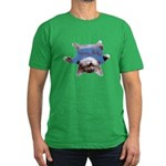 Yoga Kitty Cat Men's Fitted T-Shirt (dark)