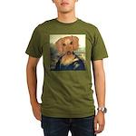 Mona Dachshund Organic Men's T-Shirt (dark)