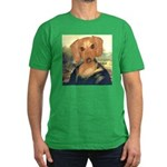 Mona Dachshund Men's Fitted T-Shirt (dark)