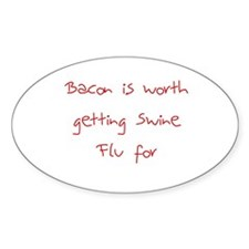 Swine Flu Oval Decal