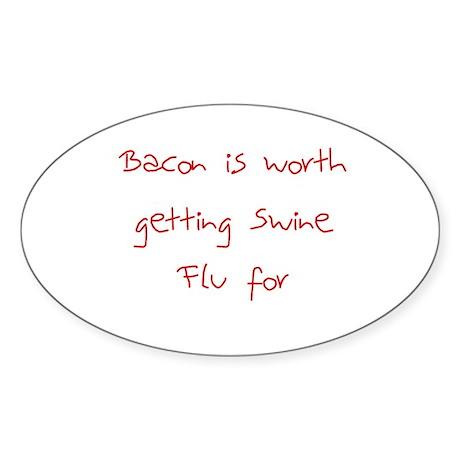 Swine Flu Oval Sticker