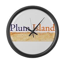 Plum Island Large Wall Clock