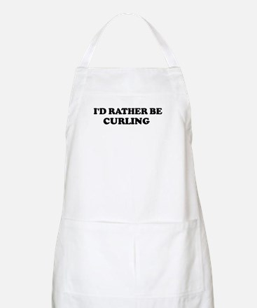 Rather be Curling BBQ Apron