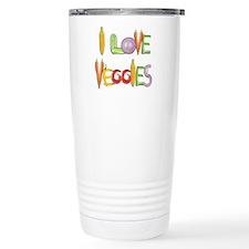 I Love Veggies Stainless Steel travel mug