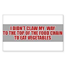 Vegetarian? No Way! Rectangle Decal