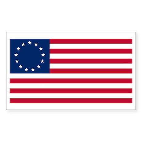 13 Stars Betsy Ross Flag Rectangle Sticker