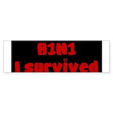 Swine Flu Bumper Bumper Sticker