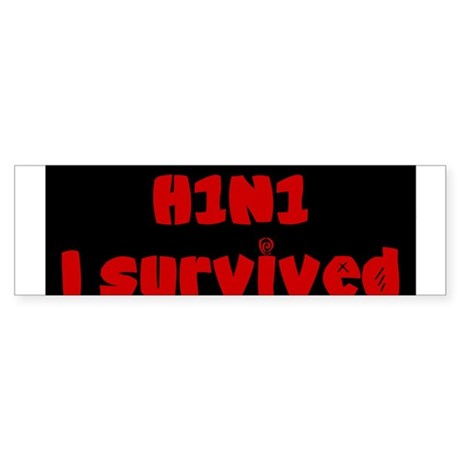 Swine Flu Bumper Sticker