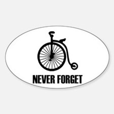 Never Forget Antique Bicycle Decal