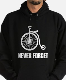 Never Forget Antique Bicycle Hoodie