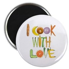 I Cook With Love Magnet